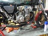 CB400F半袖一家Y様マフラー取付エンジン始動調整 (2)