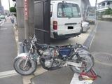 まっきーレーサー号入庫 (1)