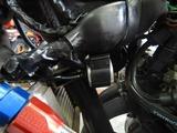 京都様CB400油温計と速度警告灯取付210829 (6)
