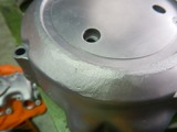高知U号エンジンカバー類ブラスト塗装下地処理 (6)