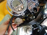 旧CB350R改めCP24号機イグニッションキー交換 (2)