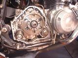 1号機乾式クラッチオイル漏れ修理160810 (4)