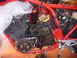 CB1100R エンジン取外し (2)
