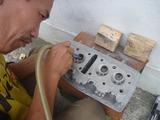 3号レーサー用ヘッドIN側ポート研磨