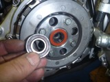 まっきーレーサー号乾式クラッチオイルポッド窓交換 (7)