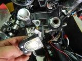 CB350Rカウルアッパー側ステー製作 (3)
