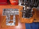 1号レーサー復活に向けてCB350Fクランクケース (2)
