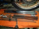 CP1号レーサー用フロントフォークの準備