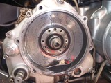 1号機乾式クラッチオイル漏れ修理160810 (2)