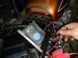 京都H号CB550F発電電圧チェック