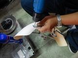 CRレーサー風フロントフェンダー試作 (2)