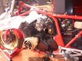 CB1100R エンジン取外し