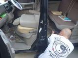 嫁の車シートカバー装着