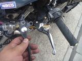 1号機油圧クラッチレバー交換 (1)