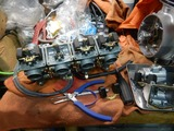 CB400F国内408ccCP20号機用キャブ再調整 (1)