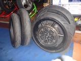 練習用タイヤに交換