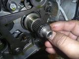 まっきーレーサー号乾式クラッチオイルポッド窓交換 (3)