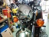 CP21号機CB400FGTK号油温計取り付け (3)
