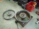 CB400国内398cc25号機用前後ハブ準備210503 (3)