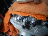 CB400国内398ccCP25号機エンジン不足部品取り付け