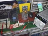 コムアキ号レギュレーター制御チェックと調整 (2)