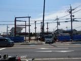6月12日CP前空き地建設工事 鉄骨建て方 (2)
