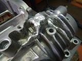 クランクケース修理アルゴンガス切れ201004
