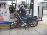 12号機姫号人生で始めてのセルフ給油