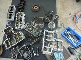 398エンジン2基分解