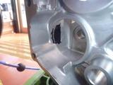 500cc化計画キックギヤーケース加工 (1)