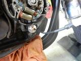 京都様CB400油温計と速度警告灯取付210829 (3)