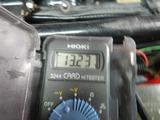 半袖一家Y様CB400F発電、充電チェック (9)