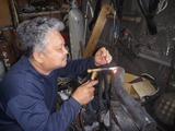 マフラークラック溶接修理 (2)