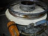 ケニア エリックスーパーカブ90前後タイヤ交換 (2)