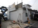今日から屋根復旧工事スタート