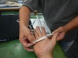 ジニアスでレース用グローブオーダー採寸 (3)