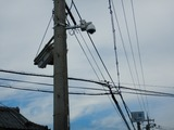 CP前交差点に防犯カメラが設置された