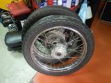 CB400国内398cc25号機用前後ハブ準備210503 (2)