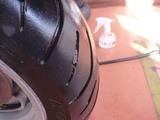 マジェスティ250Cパンク修理 (1)
