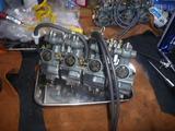 7号機キャブ分解掃除と同調 (1)