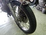 CB400F京都H様前後タイヤ交換と不具合修正 (3)
