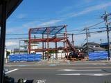 6月12日CP前空き地建設工事 鉄骨建て方 (3)