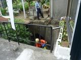 高圧洗浄ポンプ車到着 (1)