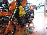 DR250Sエンジン交換 (4)
