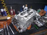 銀ちゃんレーサー用ニューエンジン腰上組立て (2)