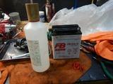 22号機高槻S号バッテリー液補充
