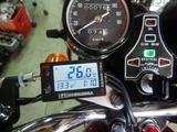 CB400F国内408ccCP20号機ヨシムラテンプメーター取り付け (4)