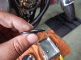 CB400F逆車408キャブレター同調調整とオイル漏れ修理210924 (5)