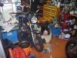姫ご来店何時ものバイク磨き