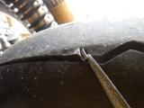 1号機リアタイヤに異物が刺さっていたw (1)